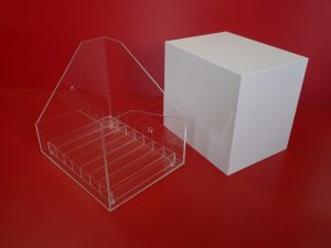 Bac Rangement Décoration PMMA blanc incolore