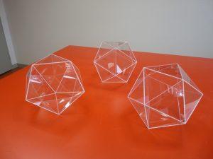 Icosaedre PMMA incolore