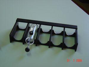 Rangement tube PMMA noir et incolore